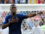 Paul Pogba scores the winner during the World Cup group game between France and Australia on June 16, 2018
