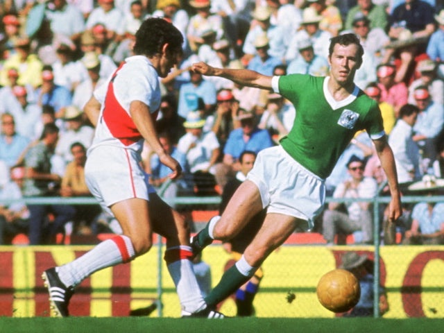 Peru in action during their 1970 World Cup clash with Germany