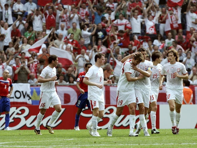 Poland in action at the 2006 World Cup