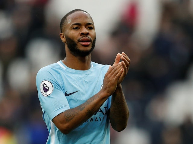Manchester City winger Raheem Sterling in action during a Premier League clash in May 2018