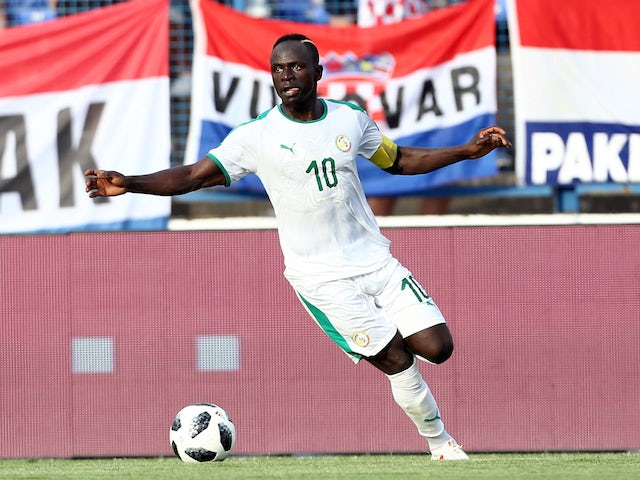 Sadio Mane in action for Senegal on June 9, 2018