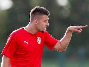 Serbia's Sergej Milinkovic-Savic in training ahead of the 2018 World Cup