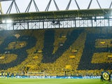 General view of Borussia Dortmund fans at Signal Iduna Park on April 12, 2017