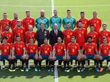 Spain's squad lines up for their official 2018 World Cup photoshoot