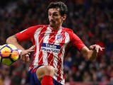 Stefan Savic in action for Atletico Madrid on November 18, 2017