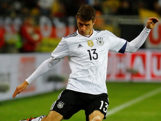 Thomas Muller in action for Germany on October 8, 2017