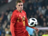Thorgan Hazard in action for Belgium on November 14, 2017
