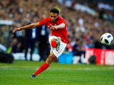 Trent Alexander-Arnold in action for England on June 7, 2018