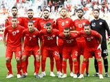 The Tunisia team line up before their friendly game with Turkey on June 1, 2018