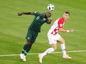 Nigeria's Victor Moses in action with Croatia's Ivan Perisic during the World Cup group-stage match on June 16, 2018