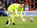 Bournemouth's Asmir Begovic in action against Manchester United on April 18, 2018