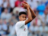 England's Jesse Lingard applauds their fans as he walks off the pitch after being substituted in the match against Panama on June 24, 2018