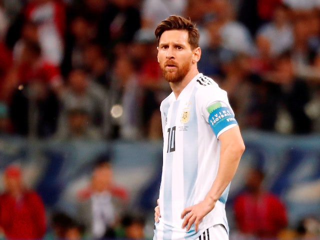 Argentina's Lionel Messi during the match against Croatia on June 21, 2018