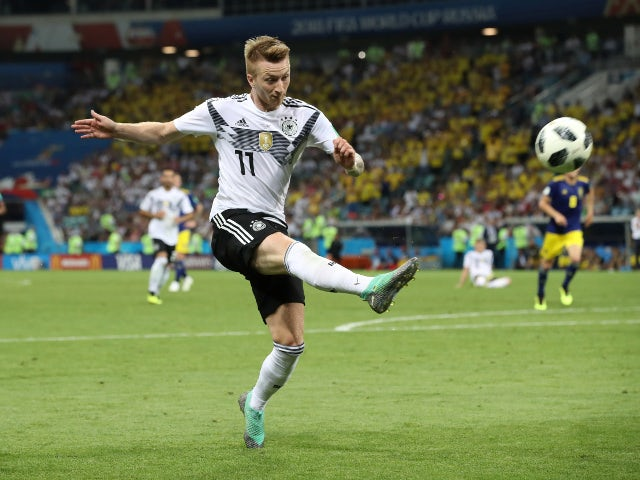 Germany's Marco Reus in action in the World Cup game against Sweden on June 23, 2018