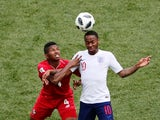 England's Raheem Sterling in action with Panama's Fidel Escobar on June 24, 2018