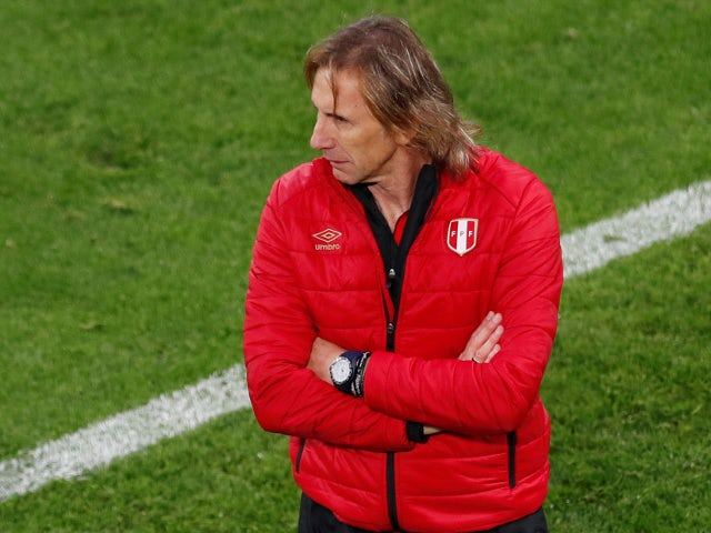 Peru coach Ricardo Gareca during the match against France on June 21, 2018