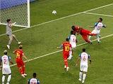 Belgium's Romelu Lukaku scores their second goal in the match against Panama on June 18, 2018