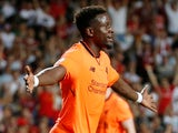 Liverpool's Divock Origi in action during the Premier League Asia Trophy match against Crystal Palace on July 19, 2017