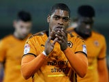 Wolverhampton Wanderers' Ivan Cavaleiro applauds the fans after the match against Barnsley on January 13, 2018