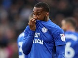 Cardiff City's Junior Hoilett reacts after a missed chance against Sunderland on January 13, 2018
