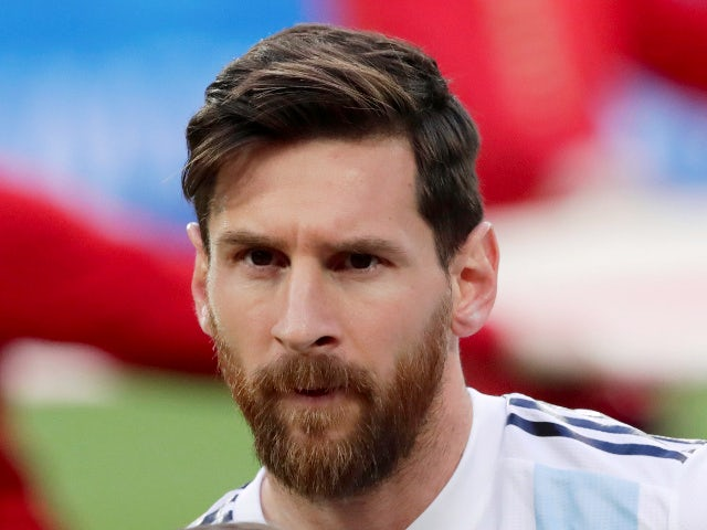 Argentina's Lionel Messi before the match against Nigeria on June 26, 2018