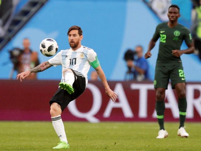 Argentina's Lionel Messi in action against Nigeria on June 26, 2018