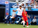 England's Trent Alexander-Arnold in action against Belgium on June 28, 2018