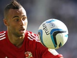 Swindon Town's John Bostock in action on September 2, 2012