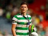 Celtic's Kieran Tierney celebrates after winning the 2018 Scottish Cup final