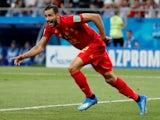 Belgium midfielder Nacer Chadli wheels away in celebration following his last-minute winner against Japan in the last 16 of the 2018 World Cup