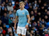 Oleksandr Zinchenko in action for Manchester City on January 6, 2018