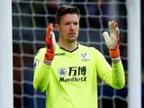 Crystal Palace's Wayne Hennessey in the match against Leicester City on April 28, 2018