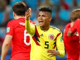Colombia's Wilmar Barrios gestures during the match against England on July 3, 2018