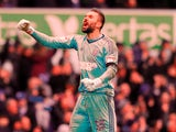 Ipswich Town's Bartosz Bialkowski celebrates during the match against Millwall on April 2, 2018