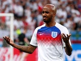 England's Fabian Delph is pictured before the World Cup semi-final with Croatia on July 11, 2018