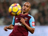West Ham United's Joao Mario in action on January 30, 2018