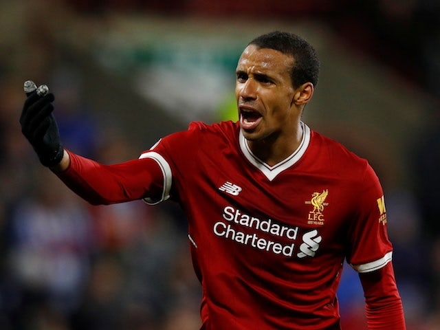 Liverpool defender Joel Matip in action during a Premier League clash with Huddersfield Town in January 2018