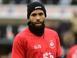 Swansea City's Kyle Bartley warms up on February 10, 2018