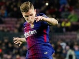 Lucas Digne in action for Barcelona on December 5, 2017