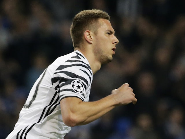 Marko Pjaca in action for Juventus in the Champions League in February 2017