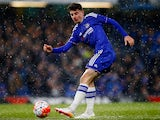 Chelsea's Mason Mount in action on April 27, 2016
