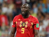 Belgium striker Romelu Lukaku in action for his side during the last 16 match against Japan at the 2018 World Cup