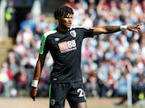 Bournemouth's Tyrone Mings gestures during the match against Burnley on May 13, 2018