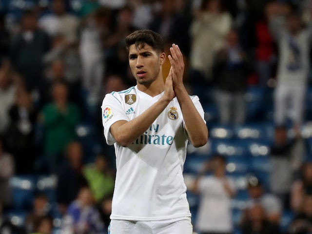 Achraf Hakimi In Action For Real Madrid On May 12 2018 Sports Mole
