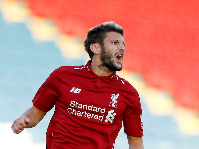 Adam Lallana in action during the pre-season friendly between Blackburn Rovers and Liverpool on July 19, 2018