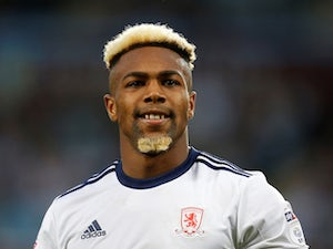 Adama Traore in action for Middlesbrough during the Championship playoff semi-final on May 15, 2018