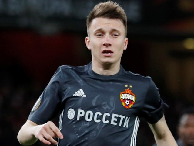Aleksandr Golovin in action for CSKA Moscow in the Europa League on April 5, 2018