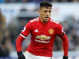 Alexis Sanchez in action for Manchester United on February 11, 2018
