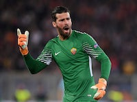 Alisson in action for Roma in the Champions League on April 10, 2018