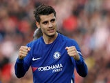 Alvaro Morata celebrates scoring for Chelsea on September 23, 2017